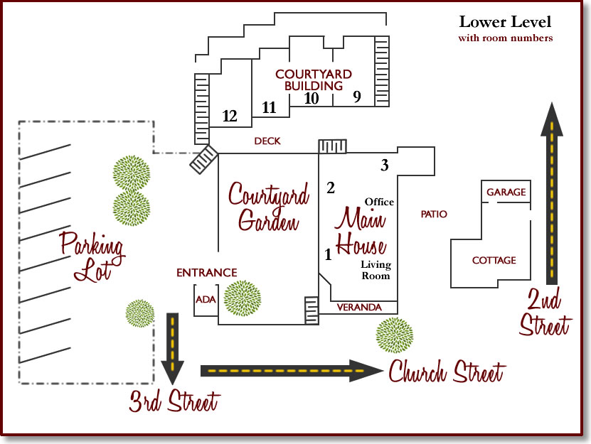 inn at occidental property map with room numbers