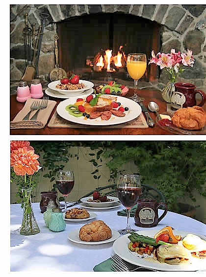 breakfast at our sonoma wine country inn