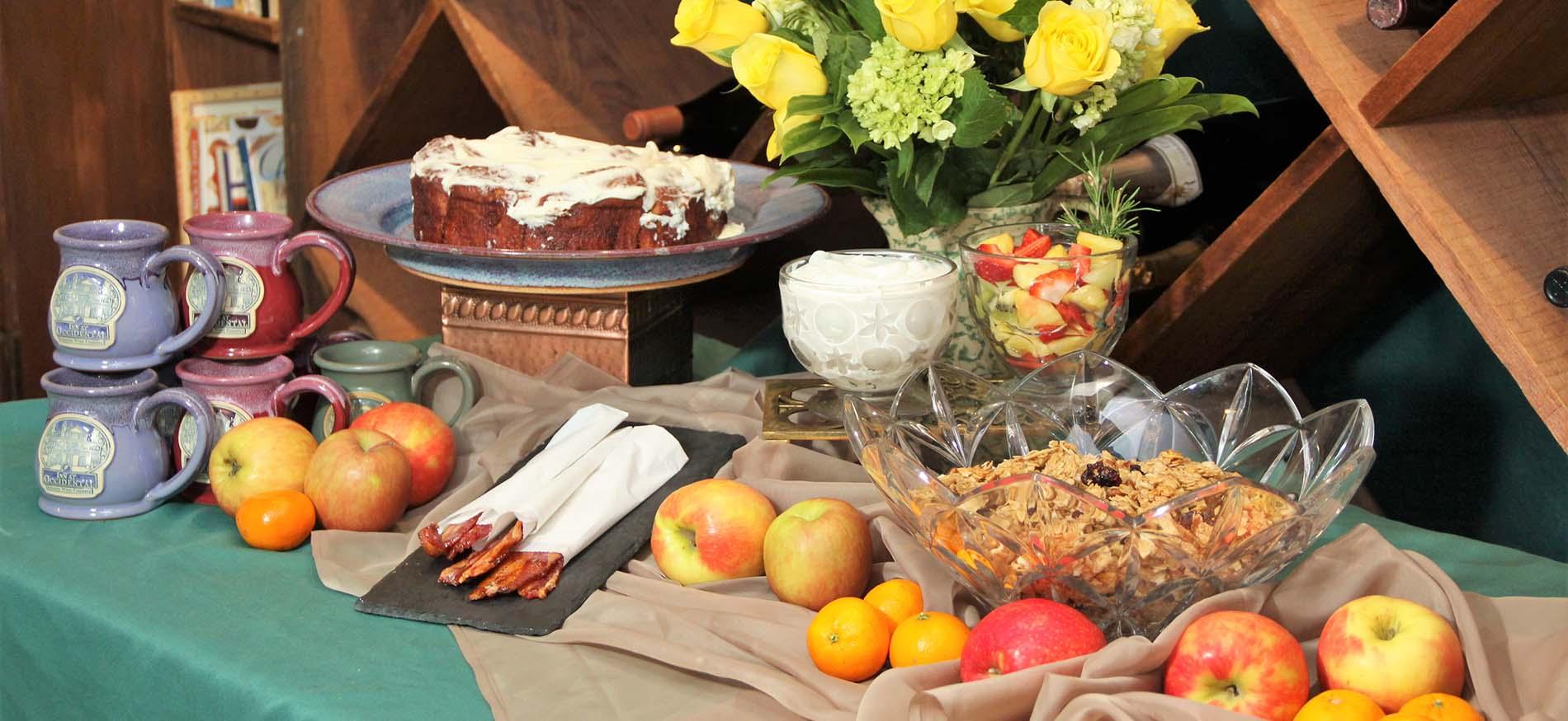 modified breakfast buffet